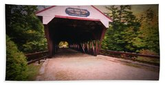The Swift River Covered Bridge,in  Conway New Hampshire. Looking Bath Towel