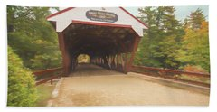 The Swift River Covered Bridge,in North Conway New Hampshire. Lo Bath Towel