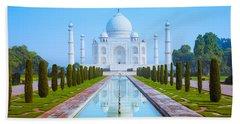 The Taj Mahal Of India Hand Towel