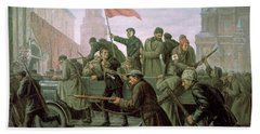 The Taking Of The Moscow Kremlin In 1917 Hand Towel