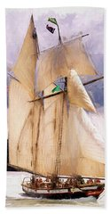 The Tall Ship The Lynx, Fine Art Print Hand Towel