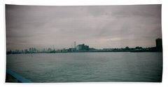 Hand Towel featuring the photograph The Tate And Lyle From Woolwich Arsenal - London by Mudiama Kammoh