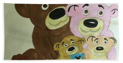 The Teddy Family  Bath Towel