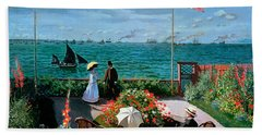 The Terrace At Sainte Adresse Hand Towel
