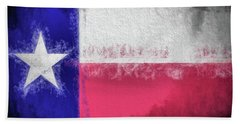 Hand Towel featuring the photograph The Texas Flag by JC Findley