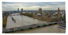 The Thames At Sunset Hand Towel