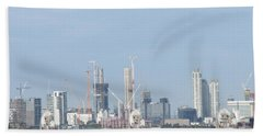 Hand Towel featuring the photograph The Thames Flood Barriers - East London by Mudiama Kammoh