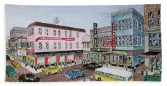 The Theater District Portsmouth Ohio 1948 Hand Towel