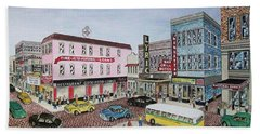 The Theater District Portsmouth Ohio 1948 Bath Towel by Frank Hunter