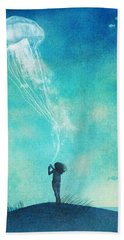 The Thing About Jellyfish Hand Towel