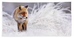 The Thinker - Red Fox In A Wintery Landscape Hand Towel
