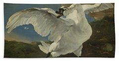 The Threatened Swan, 1650 Bath Towel