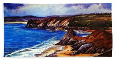The Three Cliffs Bay Bath Towel