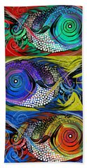 The Three Fishes Bath Towel