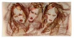 The Three Muses Bath Towel