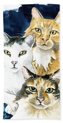 The Three Musketeers - Cat Painting Bath Towel