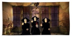 The Three Witches Bath Towel