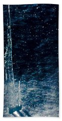 The Tower Of Ice Shadows Hand Towel by Jennifer Lake