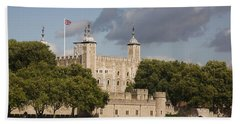 The Tower Of London. Bath Towel by Christopher Rowlands