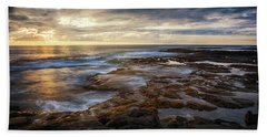 Bath Towel featuring the photograph The Tranquil Seas by Susan Rissi Tregoning