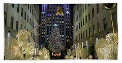 The Tree At Rockefeller Plaza Hand Towel