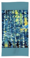 The Tree Children Bath Towel by Vennie Kocsis