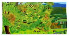 Bath Towel featuring the painting The Tree Of Joy by Magdalena Frohnsdorff
