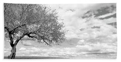 The Tree On The Hill Bath Towel