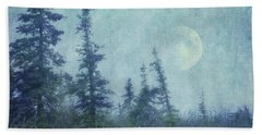 The Trees And The Moon Bath Towel