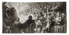The Trial Of Louis Xvi At The National Bath Towel