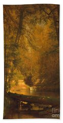 Hand Towel featuring the photograph The Trout Pool by John Stephens