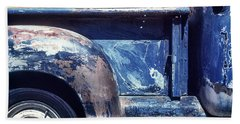 The Truck In Abstract Paint Bath Towel