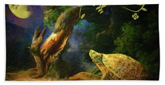 The Turtle Of The Moon Bath Towel