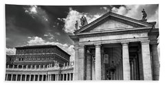 Bath Towel featuring the photograph The Tuscan Colonnades In The Vatican by Eduardo Jose Accorinti