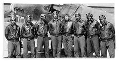 The Tuskegee Airmen Circa 1943 Hand Towel