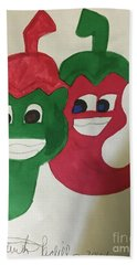 The Two Hot Peppers  Bath Towel