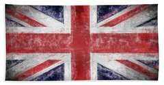 Hand Towel featuring the digital art The Union Jack by JC Findley