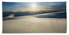 The Unique And Beautiful White Sands National Monument In New Me Hand Towel