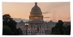 The United States Capitol At Sunrise Hand Towel