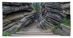 The Unknown Path Hand Towel by Alpha Wanderlust