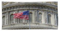 The Us Capitol Building - Washington D.c. Bath Towel