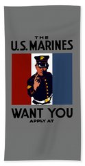 The U.s. Marines Want You  Hand Towel