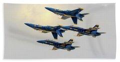 The U.s. Navy Blue Angels Bath Towel