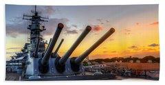 The Uss Missouri's Last Days Bath Towel