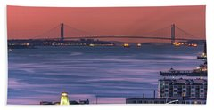 The Verrazano Bridge At Sunrise Bath Towel