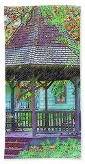 The Victorian Gazebo Sketched Bath Towel by Kirt Tisdale