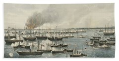 The Victorious Attack On Fort Fisher, 1865 Bath Towel