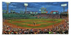 The View From Behind Home Plate - Fenway Park Hand Towel