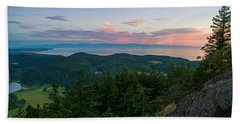 The View From Mt Erie Hand Towel by Ken Stanback