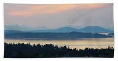 The View From Mt. Tolmie Bath Towel by Keith Boone